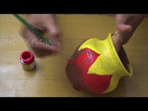 How To Paint  pot art ldeepika recipesl