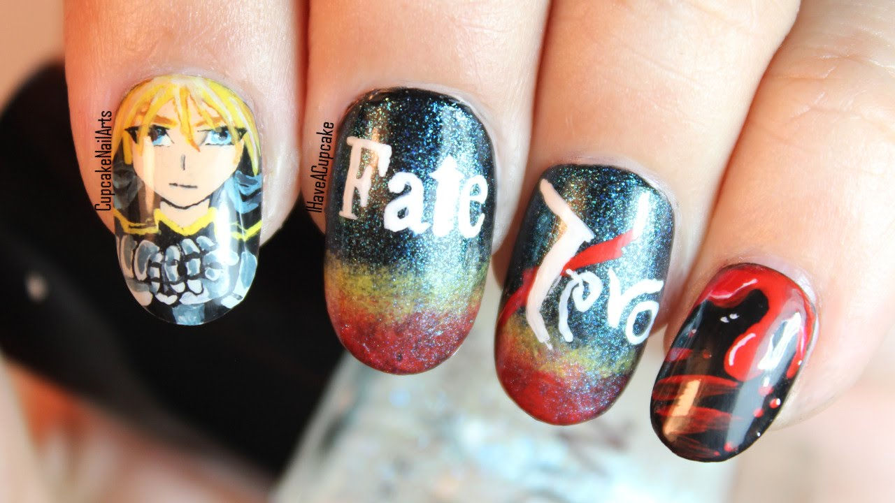 - Anime Nail Art - Fate Zero Nails - YouTube
