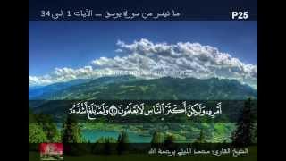 تلاوة متميزة من سورة يوسف ـ الشيخ محمد الليثي