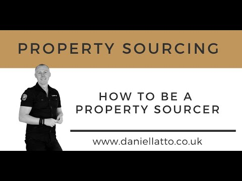 How To Be A Property Sourcer