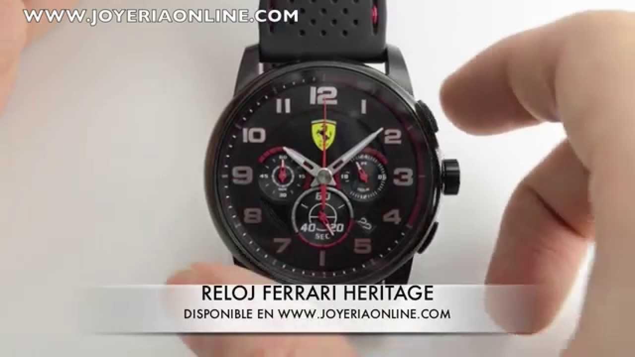 Reloj Ferrari Heritage 0830063 Youtube