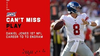 Daniel Jones Tosses 1st Career TD Pass to Evan Engram for 75 Yds