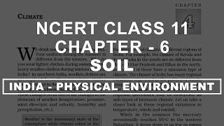 Soil - Chapter 6 Geography NCERT class 11