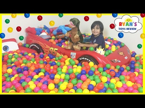 BALL PIT SURPRISE Family Fun Building Ball Pit In Our House With Toys For Kids Indoor Activites