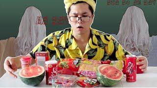 Phim Hài Ma- Thử Thách 24h Ăn Toàn Đồ Ăn Màu Đỏ -Challenge Eat All Red Foods- - Cà Chuối Channel