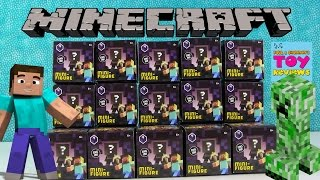 Minecraft Obsidian Series 4 | Mini Figures Blind Boxes Opening | PSToyReviews