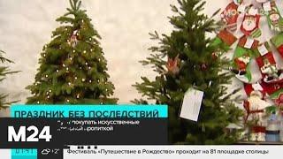 В МЧС порекомендовали покупать искусственные елки с противопожарной пропиткой - Москва 24