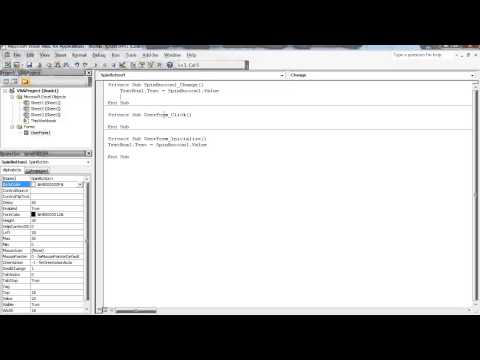 Excel VBA - Introduction to SpinButton ActiveX Control