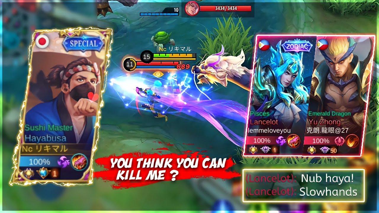 Top global Hayabusa V.S Pro Lancelot & Global Yu Zhong in Rankgame | Who will win ? | MLBB