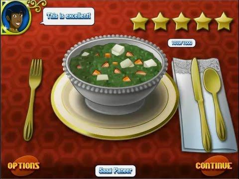 เกมส์ทำอาหาร แกงผักโขมชีสสด อาหารอินเดีย - Saag Paneer Cooking Game