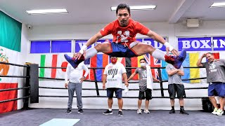 MANNY PACQUIAO takes training to a whole different level! 💥 💯