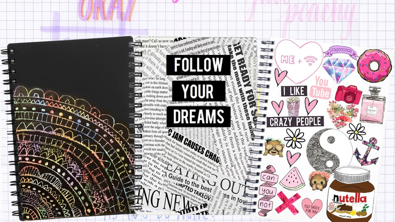 Portadas Para Cuadernos Decora Tus Libretas Con Dibujos: Decora Tus Cuadernos/libretas/carpetas