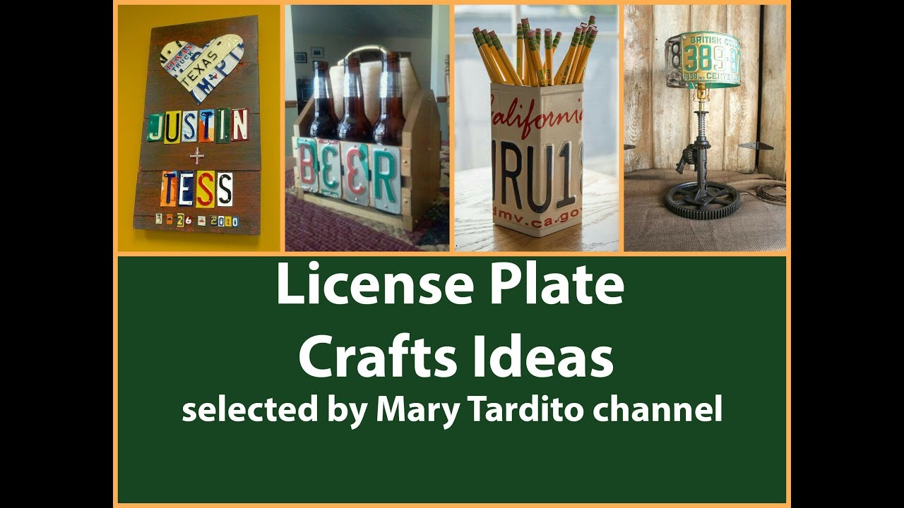 Upcycled License Plate Crafts Ideas - Recycled Home Decor ...