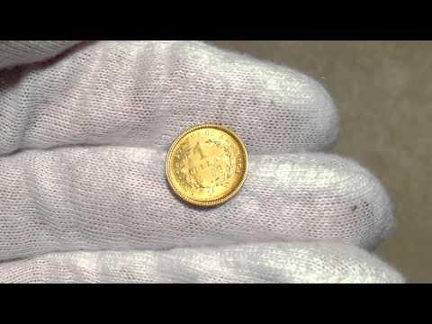 1853 Gold Dollar Liberty Head $1 Type 1 UNC MS