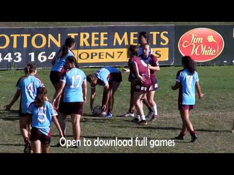 QSSRL 14-15 Girls  Final Day Rugby League Highlights