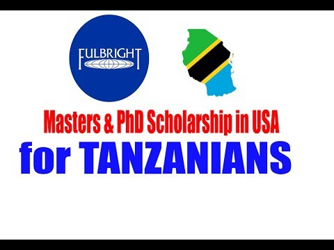 USA - Master's and PhD Scholarship 2018 kwa WATANZANIA