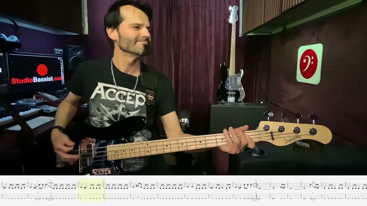 Accept - 11 Samson And Delilah - Bass Play Along Video by Martin Motnik
