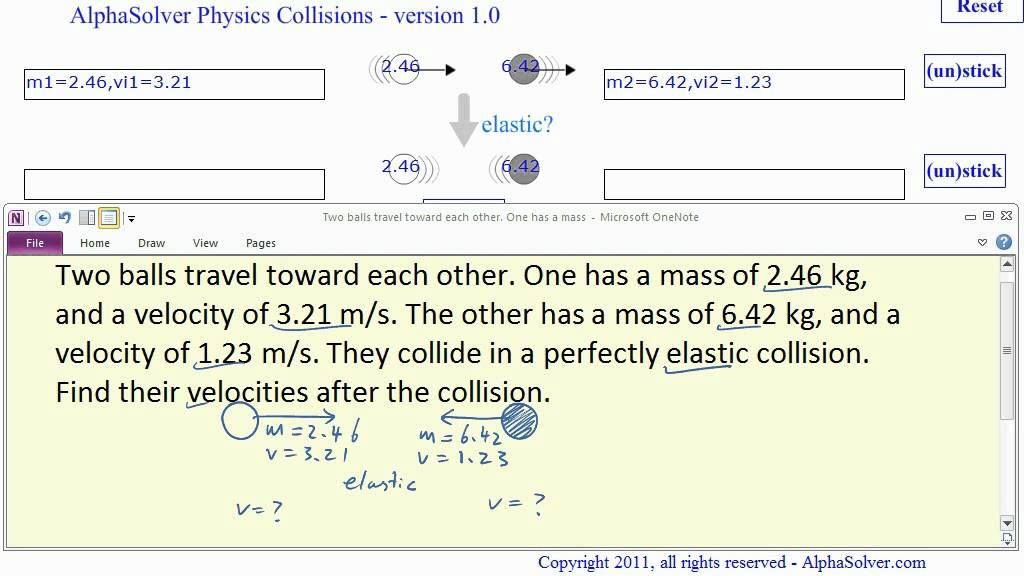 How To Solve Elastic Collision Problems In Physics Youtube