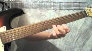 24-tone Quartertone / 1/4-tone guitar