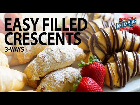 Easy Crescents Filled 3 Ways - Almond, Chocolate Covered Strawberry & Vanilla Bean
