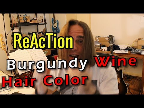 NEW HAIR COLOR! / Reaction Special Effects // Burgundy Wine // Hair Dye // Semi-permanent Hair Color