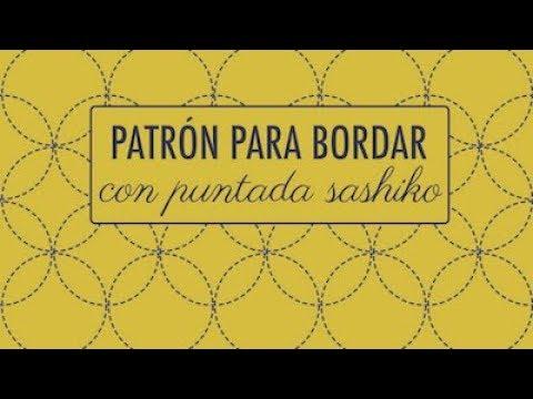 BORDADO: PATRÓN SASHIKO (FÁCIL)