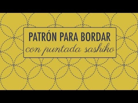 BORDADO  PATRÓN SASHIKO (FÁCIL) - YouTube 955c0e77637f2