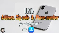 Unlimited USA Address, ZIP code and Phone Number for Apple id | Apple ID create