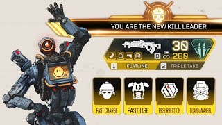 Popping off with the GOLD Flatline & All Gold Items in Apex Legends