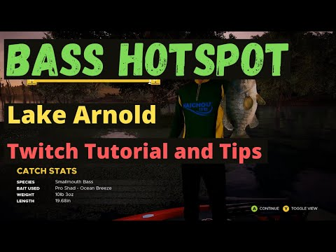 Bass Hotspot In Lake Arnold - Twitch Tutorial - Cypress Cove - Fishing Sim World Pro Tour 2020