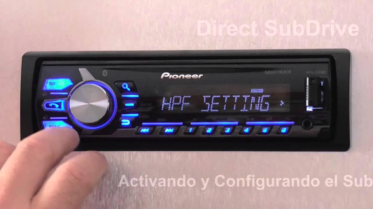 Direct Subdrive En Mvh X375bt De Pioneer Youtube