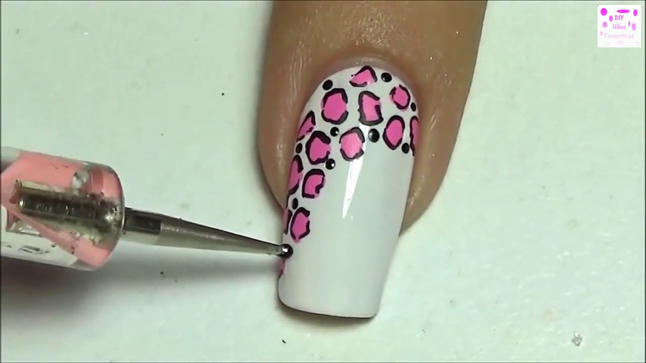 diseños de uñas con moños y animal print - YouTube