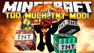 Minecraft Mods: Too Much TNT Mod! - (Mod Showcase Minecraft)