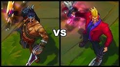 Primetime Draven Legendary vs Gladiator Draven Skins Comparison (League of Legends)
