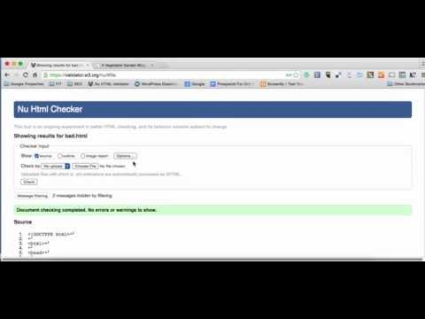 How To Error Check (Validate) HTML Code With Nu HTML Checker