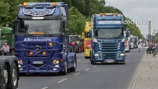 100 LKW  & 50 Traktoren demonstrieren  in Berlin am Brandenburger Tor       19.6.2020
