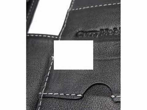 CarryMobile Leather Case for Samsung I760 - Book Type (Black