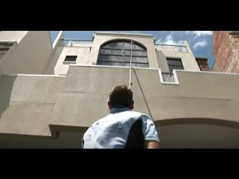 How to clean a building 4-5 stories high! Let's Go Cleaning   Mr Sink Show S5 - E5