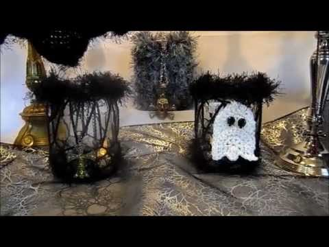 DIY: HALLOWEEN Gespenst häkeln,;Grusel Party,BELEUCHTETE Tisch DEKO ...
