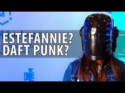 Daft Punk Helmet by Estefannie Explains It All at Bay Area Maker Faire #BAMF2018