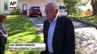 Sanders lashes out at Trump on policies