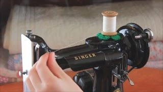 How To Thread a Singer Featherweight Sewing Machine (Getting To Know Your Featherweight, Part 4)