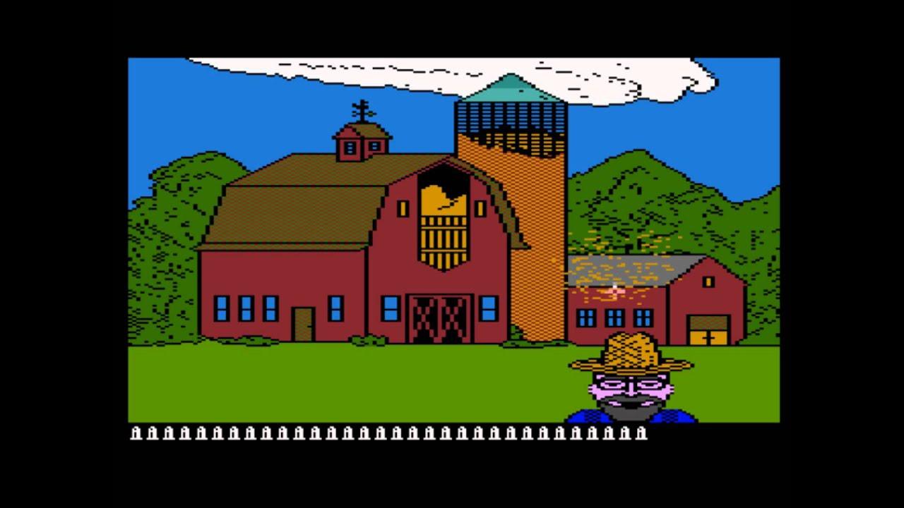 barnyard blaster for the atari 8 bit family youtube