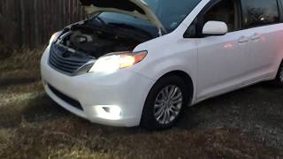 2010-2018 Toyota Sienna Headlights & fog lights LED conversion + back up