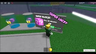 lucky block is my first vid. its on lucky block roblox