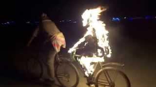 Burning Man, on a bike!