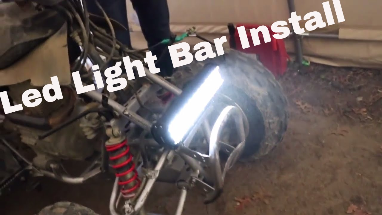 How to Install Led Light Bar on Atv     YouTube