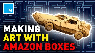 Making ART From Amazon Packages! | [FUTURE BLINK]