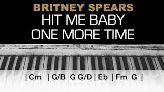 Britney Spears - Hit Me Baby One More Time Karaoke Chords Acoustic Piano Cover Instrumental Lyrics