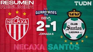 Resumen y goles   Necaxa 2-1 Santos   Guard1anes 2020 Liga MX - J6   TUDN